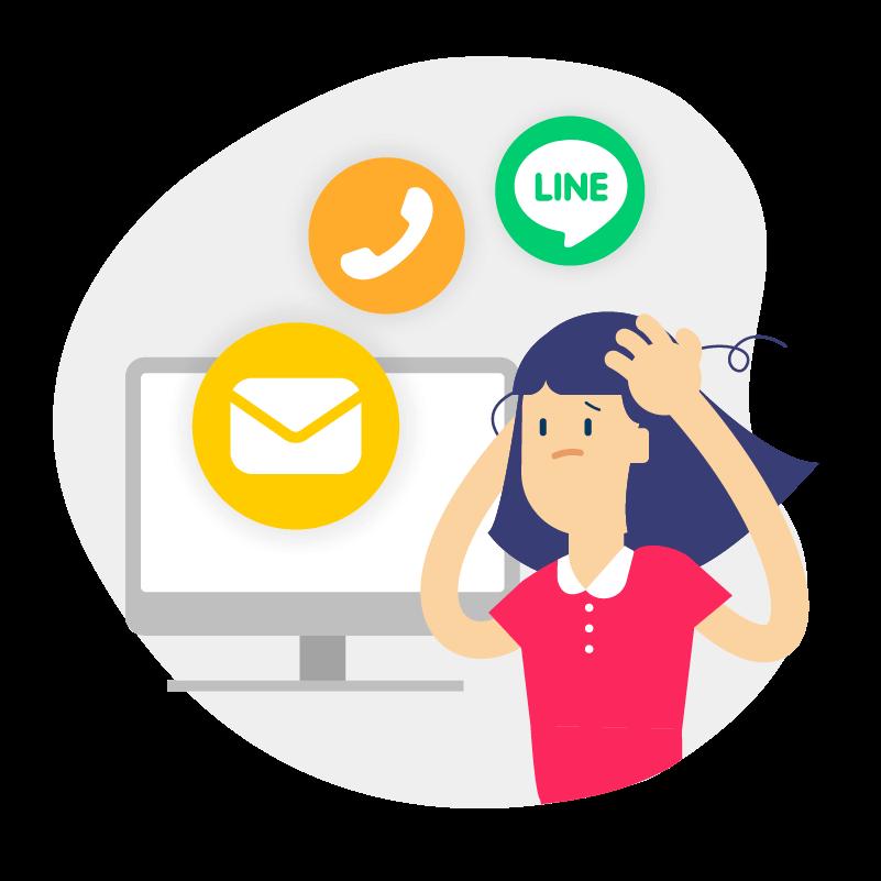 用 Email、電話、即時通訊軟體協作或會議討論推展任務進度好混亂